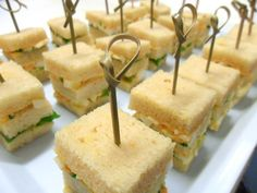 Egg & Garlic Chive Mayo Club Sandwiches made with Sugar Sisters Bread Garlic Chives, Mini Cakes, High Tea, Sandwiches, Egg, Sisters, Sugar, Bread, Cheese