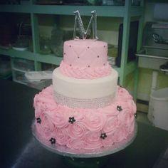 Pink bling wedding