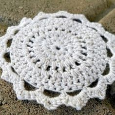 Crochet this sweet motif with delicate bamboo thread!