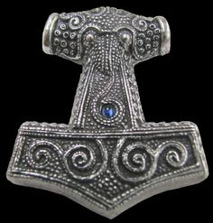 This stunning solid pewter Thor's hammer pendant is a replica of one from from the Viking period that was found in Skane, Sweden.  The sto...