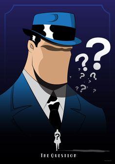 The Question by Diego Riselli Comic Book Characters, Comic Book Heroes, Comic Books Art, Comic Art, Justice League Dark, Justice League Unlimited, Dc Comics Art, Fun Comics, Show Me A Hero