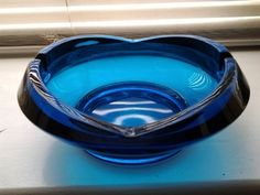 Mid-Century Blue Glass Ashtray | Collectors Weekly