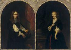 Caspar Netscher - Dubbelportret van Pieter de Graeff en zijn echt- genote Jacoba Bicker