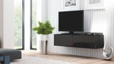 Simpla dar versatila, comoda Livo RTV-160W se integreaza perfect in livingul dumneavoastra oferindu-i o nota de eleganta.  Stilul modern imbina elementele naturale cu cele moderne si creeaza un puternic efect vizual. Astfel ca, interiorul casei dumneavoastra va fi admirat de cei care indragesc liniile bine definite, simplitatea formelor dar si functionalitatea acestora. Tv Bord, Pool Spa, Bedroom Furniture, Bathtub, Living Room, Live, Interior, Black, Tv Tables