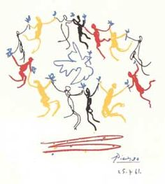 "my favorite Picasso piece ""Dance Around the Dove of Peace"" circa 1961. i have the print, thanks to my parents. beautiful."