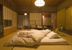 Ryokan bedroom.  ## Would love to stay in one of these!
