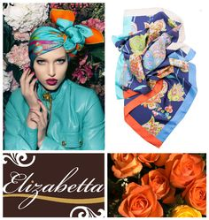 Gaby-Silk Foulard, your perfect match for Spring. Available at http://www.elizabetta.net/collections/womens-italian-square-scarves-silk-foulards/products/italian-floral-print-square-silk-twill-scarf
