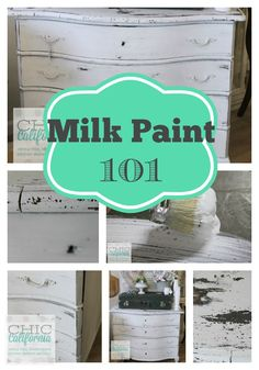 Milk Paint 101 I really love the look of Milk Paint and have a few pieces of my own to tackle! Thanks, Kris at Design by Decor.