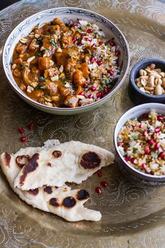 Thai Peanut Chicken and Pumpkin Curry with Sticky Pomegranate Rice. The winter dinner you'll actually look forward to