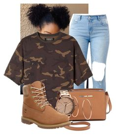 """Untitled #86"" by pimpdaddyk ❤ liked on Polyvore featuring adidas Originals, MICHAEL Michael Kors, Michael Kors, Nixon and Timberland"