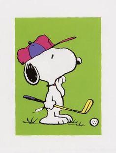 snoopy golfer - Google Search