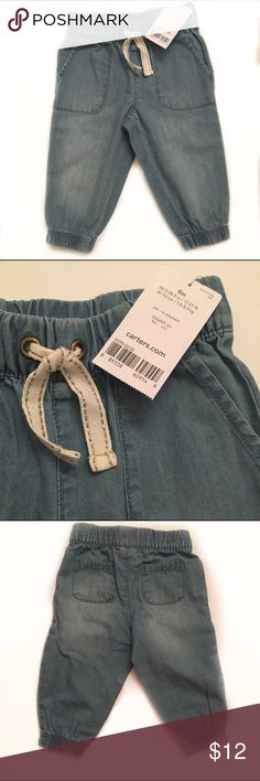 NWT Carter's Lightweight pull on jean pants with elastic waist and ankles Carter's Bottoms