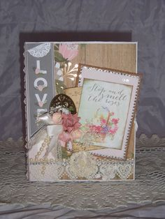 "DELUXE 8.5 x 6.5 ALBUM ""LOVE"" -  DESIGNS BY SHELLIE #DCWV"