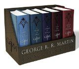 George R. R. Martins A Game of Thrones Leather-Cloth Boxed Set (Song of Ice and Fire Series): A Game of Thrones A Clash of Kings A Storm of Swords A Feast for Crows and A Dance with Dragons