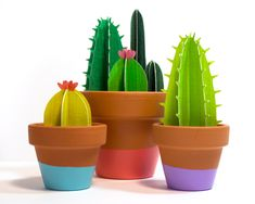 This listing is for a whole group of various paper cacti planted in one dip-painted terra-cotta pot in your chosen color.  This potted cactus garden is planted with care, so each have differing cacti within, all ranging in green colors and always having at least 4 little plants inside. Your cacti bunch will always include at least one flowering, one spiked, and one tall narrow cactus.  Cut from Bristol paper that is painted and sealed to protect your cacti from moisture and fading, they can…