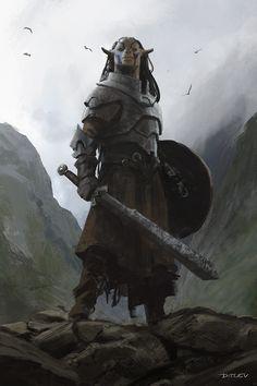I hear you had need of a warrior – Jan Ditlev Anime Art Fantasy, Fantasy Rpg, Fantasy Artwork, Fantasy World, Fantasy Character Design, Character Concept, Character Art, Concept Art, Dungeons And Dragons Characters