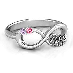 2 - 7 Stone BFF Friendship Infinity Ring #jewlr