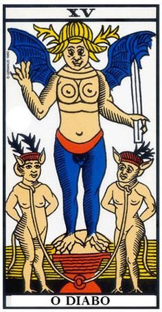 Le diable - Tarot of Marseille Tarot Oui Non, Charles Fourier, Free Psychic Reading Online, Name Astrology, Oui Ou Non, Rose Croix, Tarot Tattoo, Occult Art, Psychic Readings