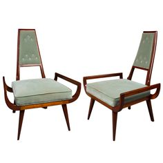 Pair of American Modernist Armchairs