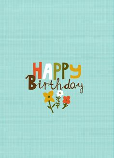 CARDS :: NEW! Happy Birthday Blue - Ecojot - eco savvy paper products…