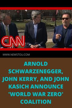 Arnold Schwarzenegger, John Kerry, and John Kasich tell CNN's Fredricka Whitfield about the first town hall around World War Zero - a coalition of people from all walks of life who are committed to addressing the climate crisis.