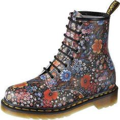 Worst habit of falling in love with discontinued shoes...Dr.Marten Floral Illusion. They need to bring theses bad boys back