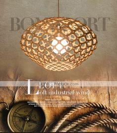 12W Lustre , Vintage Autres Fonctionnalité for LED Bois/BambouSalle de séjour / Chambre à coucher / Salle à manger / Bureau/Bureau de de 4930606 2017 à €75.45