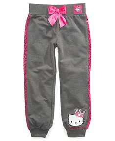 Hello Kitty Kids Pants, Little Girls French Terry Pants - Kids Girls 2-6X - Macy's