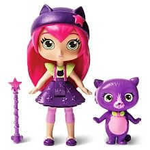 Play out the magical adventures from Little Charmers with the Little Charmers Hazel Figurine Set. This set comes with Hazel, her favorite kitty Seven, and her signature magical Star Wand. Hazel is still a Charmer in Training, but she loves to explore and try out sparktastic new spells with her magic wand. Expand the fun and collect Hazels charmy best friends Posie and Lavender. Together, they can practice their magical spells! Sparkle up with the Little Charmers Hazel Figurine Set!