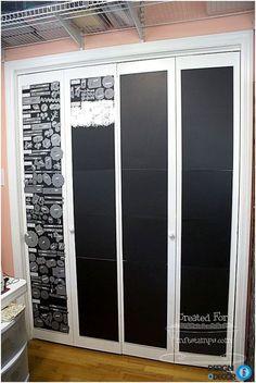 creative closet door covers