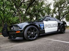 TRANSFORMERS movie Barricade as a Saleen Mustang. I want this really bad. Someone get this for me for my 18th birthday