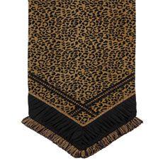 Lovely Leopard Print Table Runner. Http://marquise.belmonthomedecor.com