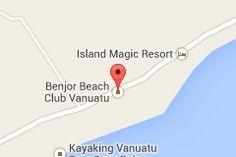 Map of Benjor Beach Club Vanuatu