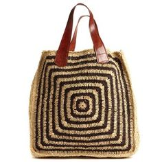 Panama Tote Espresso now featured on Fab.