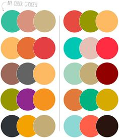 Sample color schemes #jewelryinspiration #cousincorp