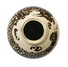 Jarre en porcelaine à décor brun de fer Corée, Dynastie Joseon