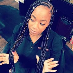 Braids with weave protective styles 50 super Ideas Quick Braid Styles, Quick Braids, Braids With Weave, Jumbo Braids, Black Girl Braids, Braids For Black Hair, Girls Braids, French Braid Hairstyles, African Braids Hairstyles