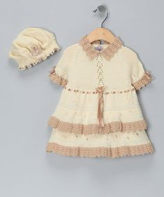 Take a look at this Vanilla & Sand Limited Edition Dress & Hat - Infant & Toddler by Gabbita on #zulily today!