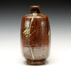 Wabi Sabi, Vases, Bottle Vase, Japanese Pottery, Brush Strokes, Beautiful Things, Glaze, Pots, Objects