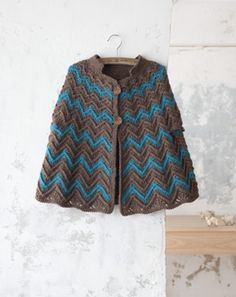 2way crochet poncho jacket