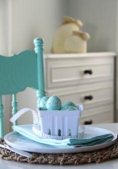 Robin's Egg Blue Easter table setting idea