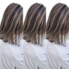 Beige Hair Color, Gorgeous Hair Color, Black Hair With Blonde Highlights, Best Hair Brush, Mom Hairstyles, Burgundy Hair, Grunge Hair, Love Hair, Dyed Hair