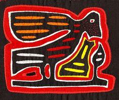 SALE - Rare, Very Vintage, 3 Layer, Ottomano Fabric 60's Bird Mola-Molita - Hand Sewn Kuna Indian Reverse Applique