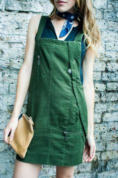 Overalls in green please