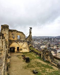 Knight's Hall at the ruins of Valkenburg Castle, built on a Hill in Limburg, the Netherlands. Below the Hill the town of Valkenburg, Limburg. | by Robert Diel