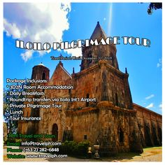 ILOILO PILGRIMAGE TOUR Minimum of 2 persons  For more inquiries please call: Landline: (+63 2)282-6848 Mobile: (+63) 918-238-9506 or Email us: info@travelph.com #Iloilo #Philippines #TravelPH #TravelWithNoWorries Travel Companies, Travel Tours, Travel Agency, Pilgrimage, Day Tours, Barcelona Cathedral, Philippines, Public, Explore