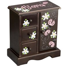 03bceb11fd Espresso Kids Jewelry Box Other Colors Avail Kids Jewelry Box, Musical Jewelry  Box, Baby
