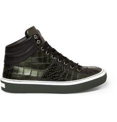Jimmy Choo - Belgravia Crocodile-Embossed Leather High-Top Sneakers | MR PORTER