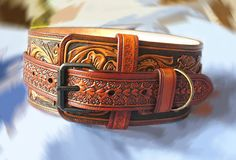 Hey, I found this really awesome Etsy listing at https://www.etsy.com/listing/463856703/dog-collar-hand-tooled-hand-carved