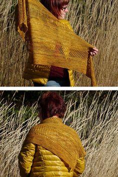 Ravelry: Ardent shawl in Madelinetosh Tosh Sock - knitting pattern by Janina Kallio.